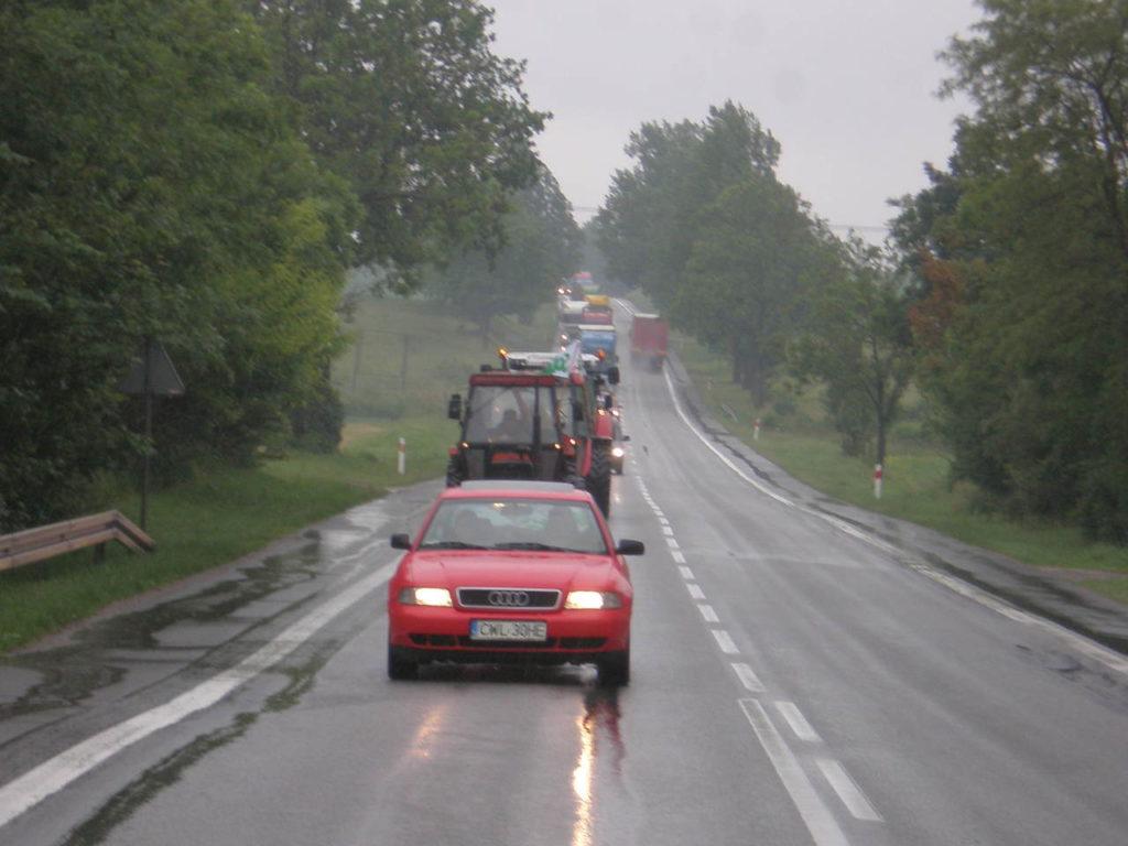 Pikieta rolników w woj. kujawsko - pomorskim dnia 14 czerwca 2012 roku