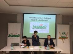 """Wyjazdowe Posiedzenie Rady Krajowej NSZZ RI """"Solidarność"""" w dniu 18 lutego 2017 roku"""