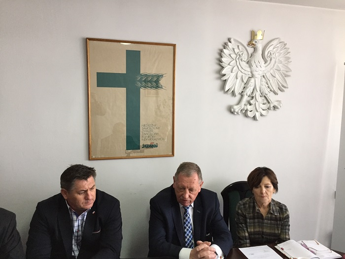 """Posiedzenie Prezydium Rady Krajowej NSZZ RI """"Solidarność"""" z udziałem ministra środowiska prof. Jana Szyszko w dniu 9 maja 2017 roku"""